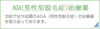 AGA(男性型脱毛症)治療薬